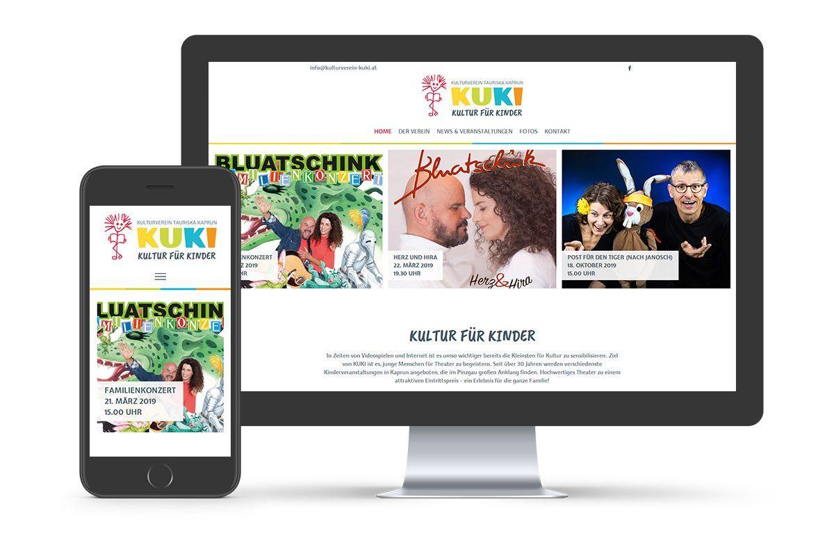KUKI - Kultur für Kinder Website
