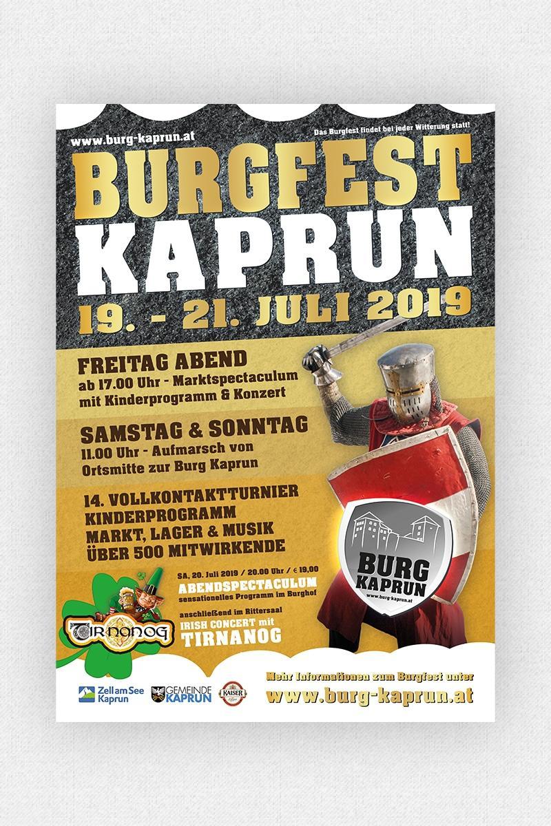 Burg Kaprun - Burgfest Plakat 2019