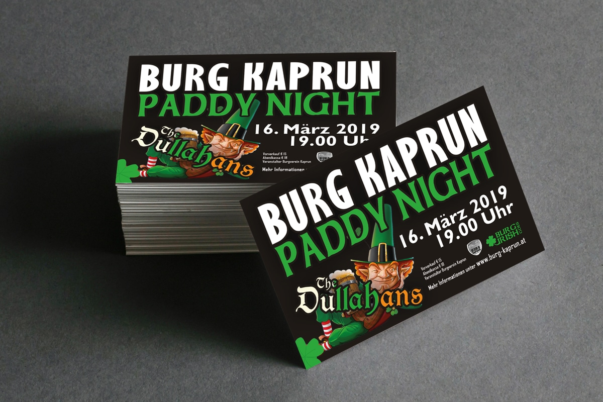 Burg Kaprun - Paddy Night Eintrittskarte