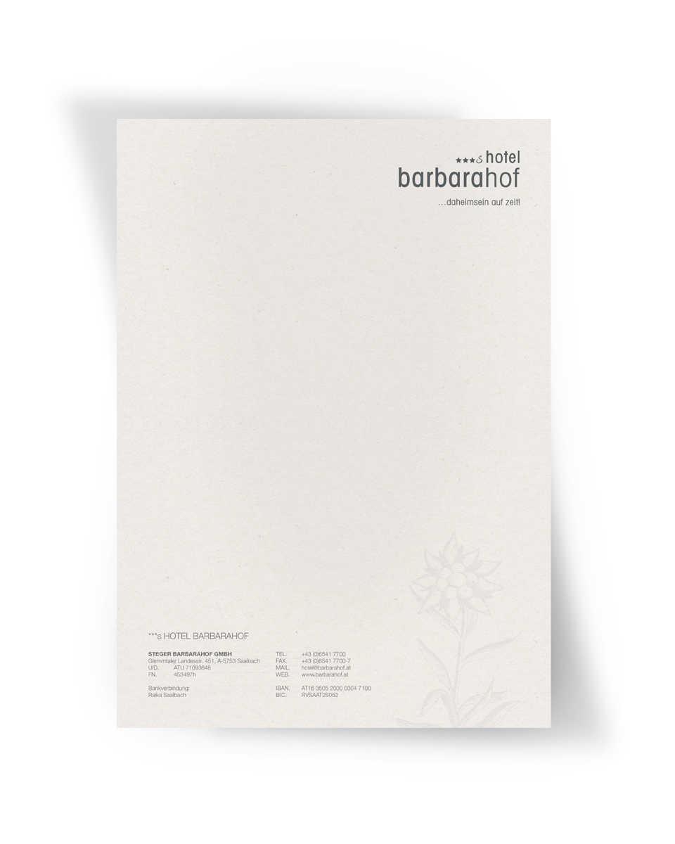 ***s Hotel Barbarahof - Briefpapier