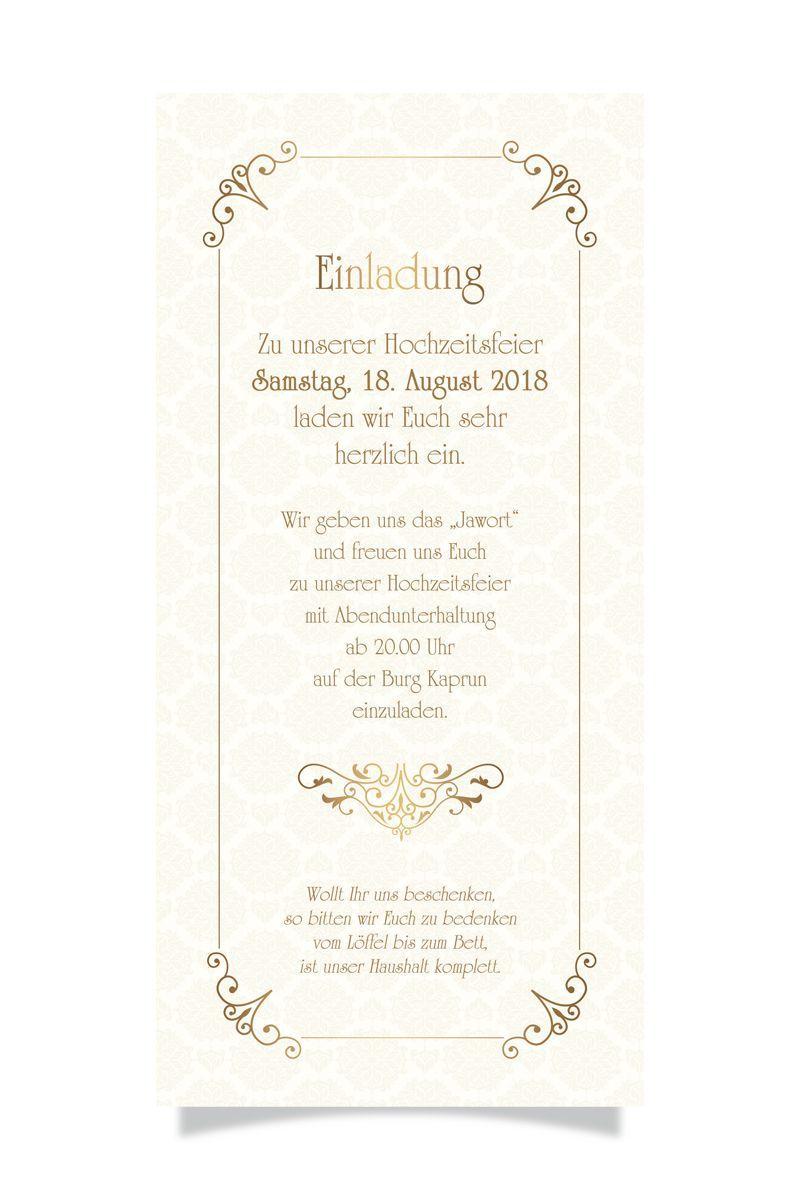 Hochzeit Stefan & Nicole - Einladung Hinten