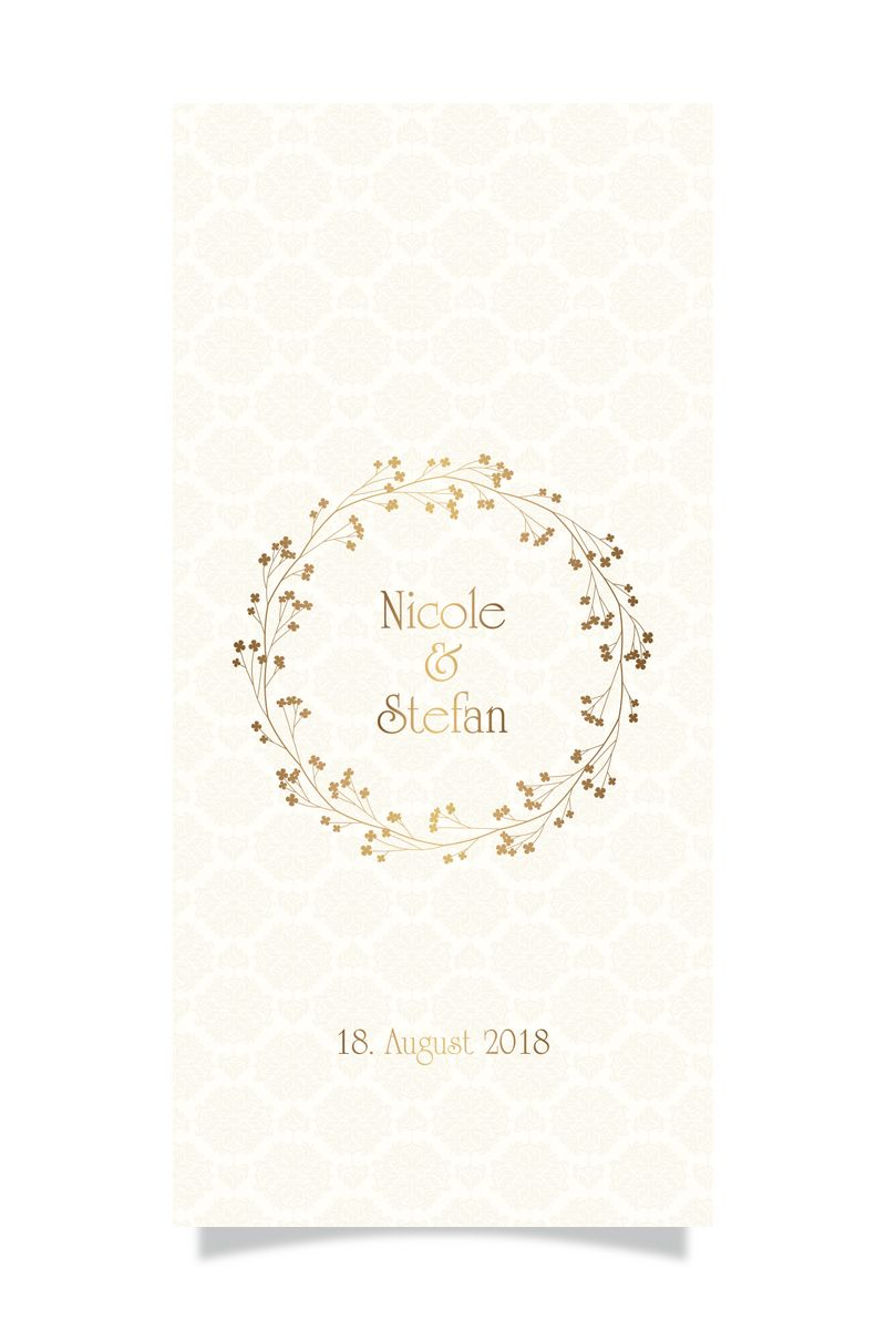 Hochzeit Stefan & Nicole - Einladung Vorne