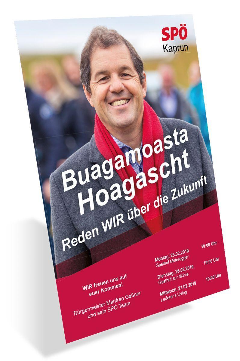 SPÖ Kaprun - Plakat