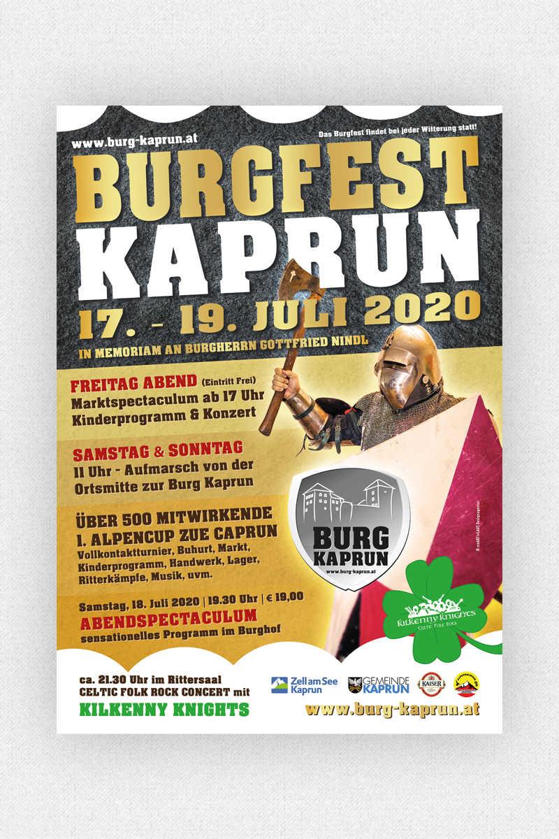 Burg Kaprun - Burgfest Plakat 2020