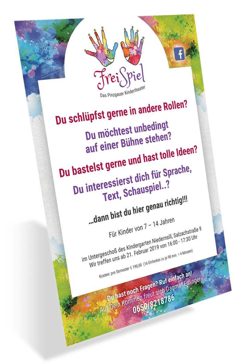 FreiSpiel - Das Pinzgauer Kindertheater - Plakat