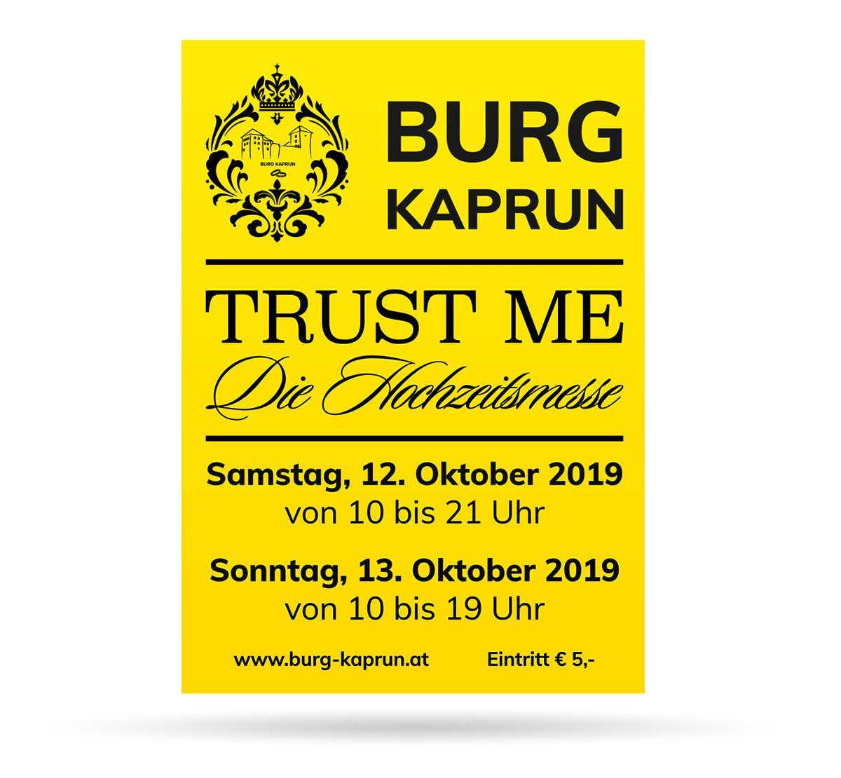 Burg Kaprun - Hochzeitsmesse - Neonplakat