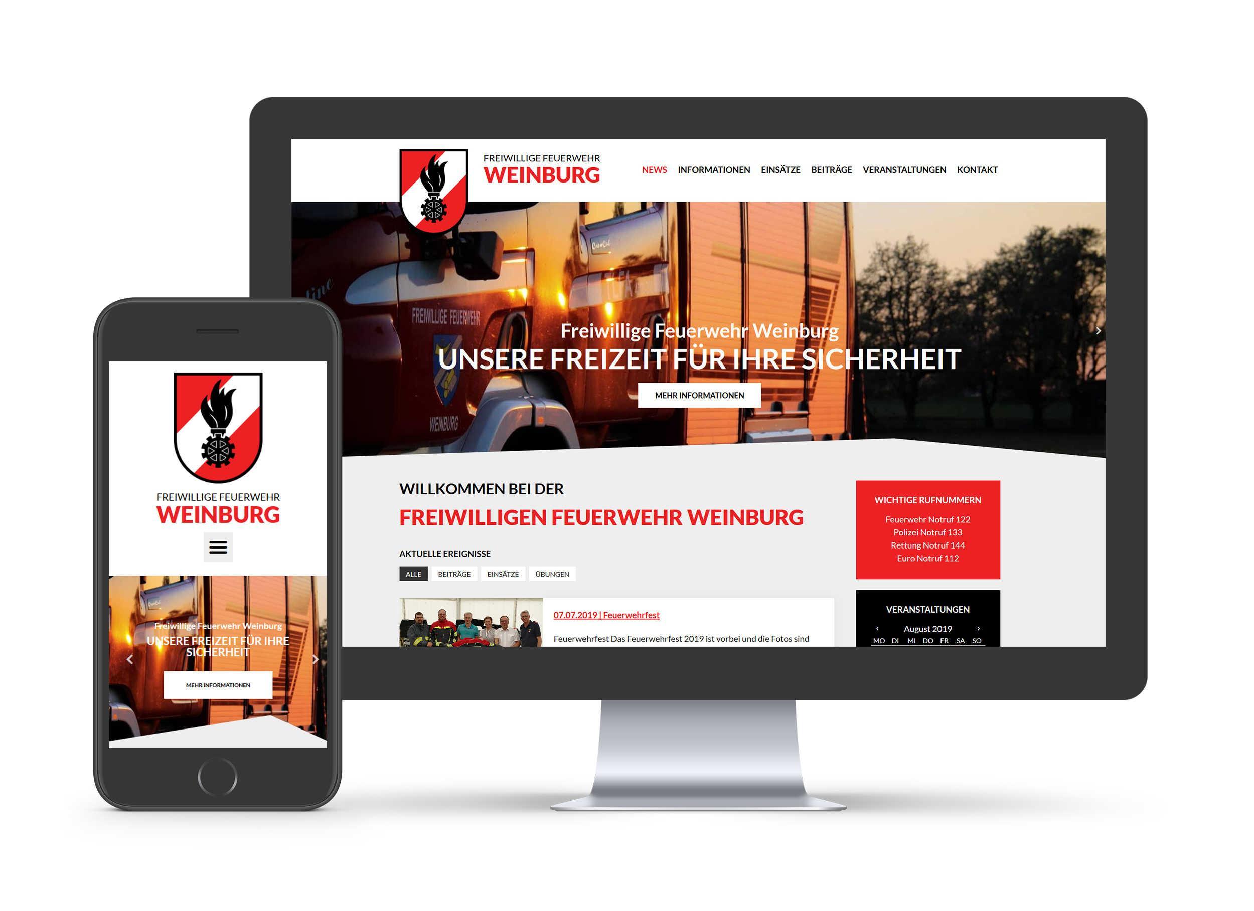 Freiwillige Feuerwehr Weinburg - Website
