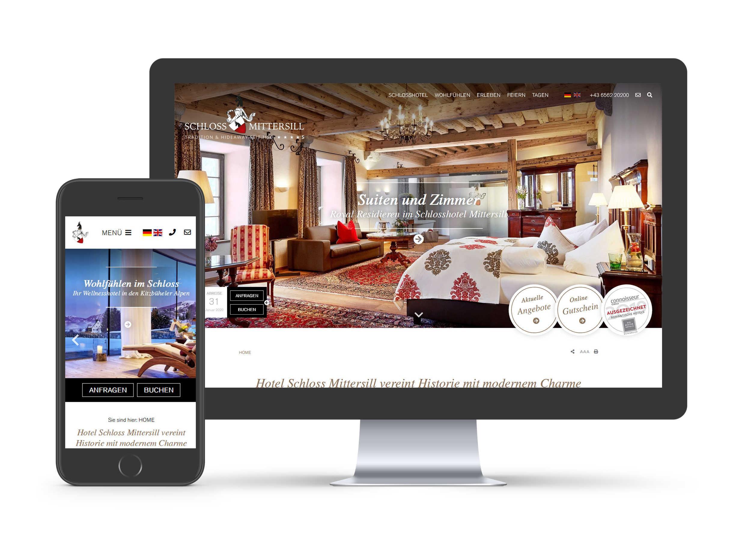 Schloss Mittersill - Website