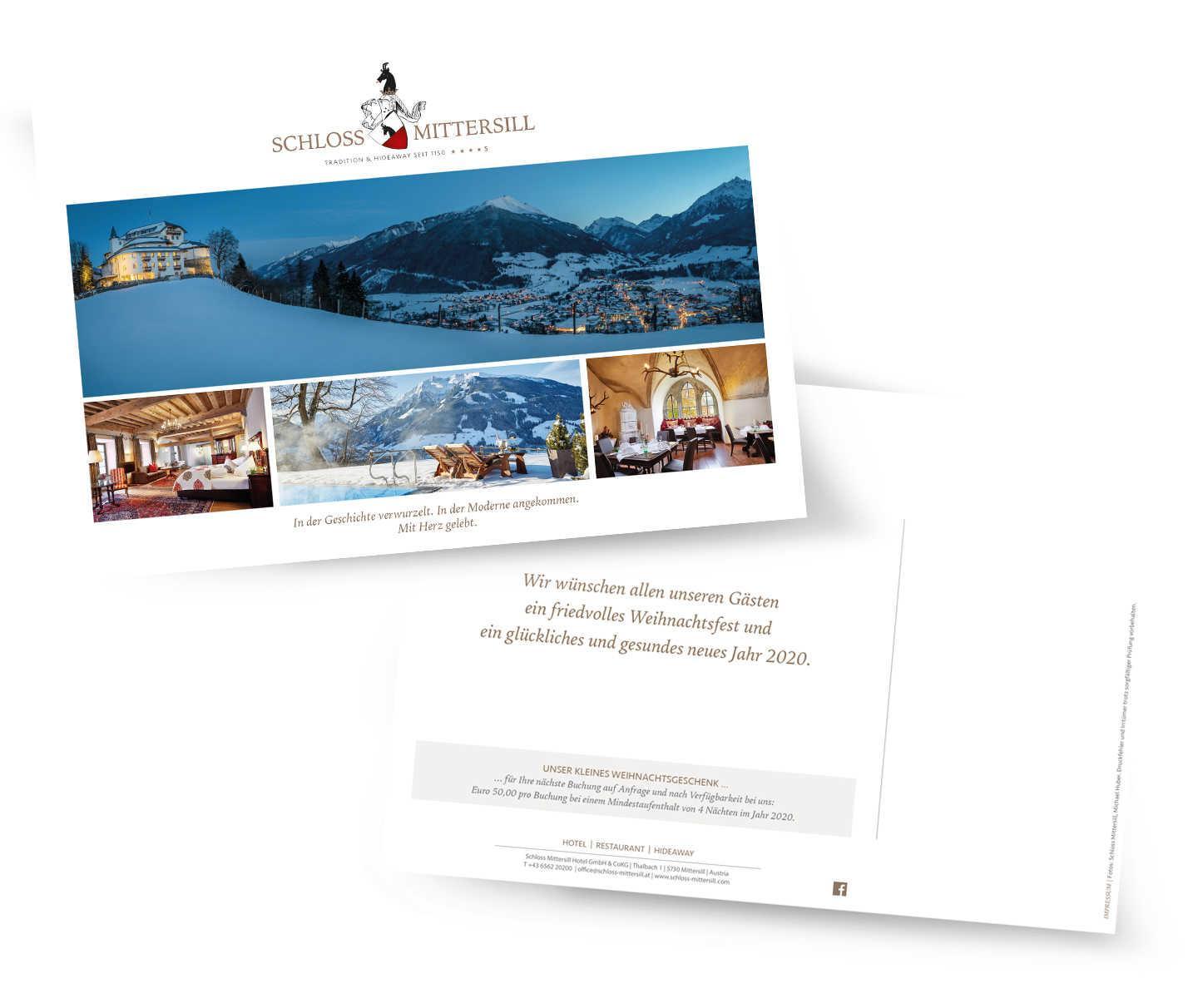 Schloss Mittersill - Weihnachtskarte
