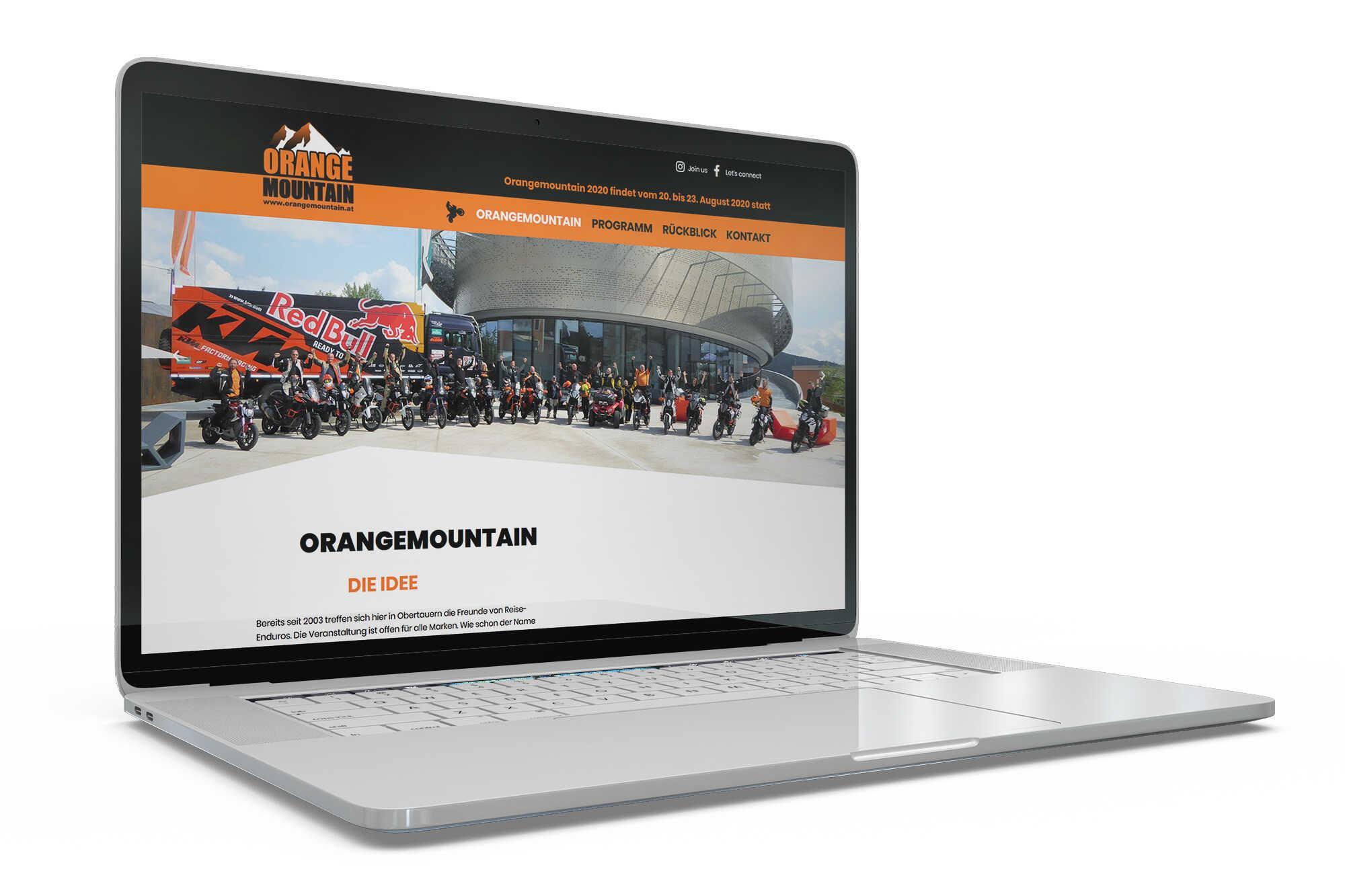 Orangemountain Adventurbiketreffen - Website
