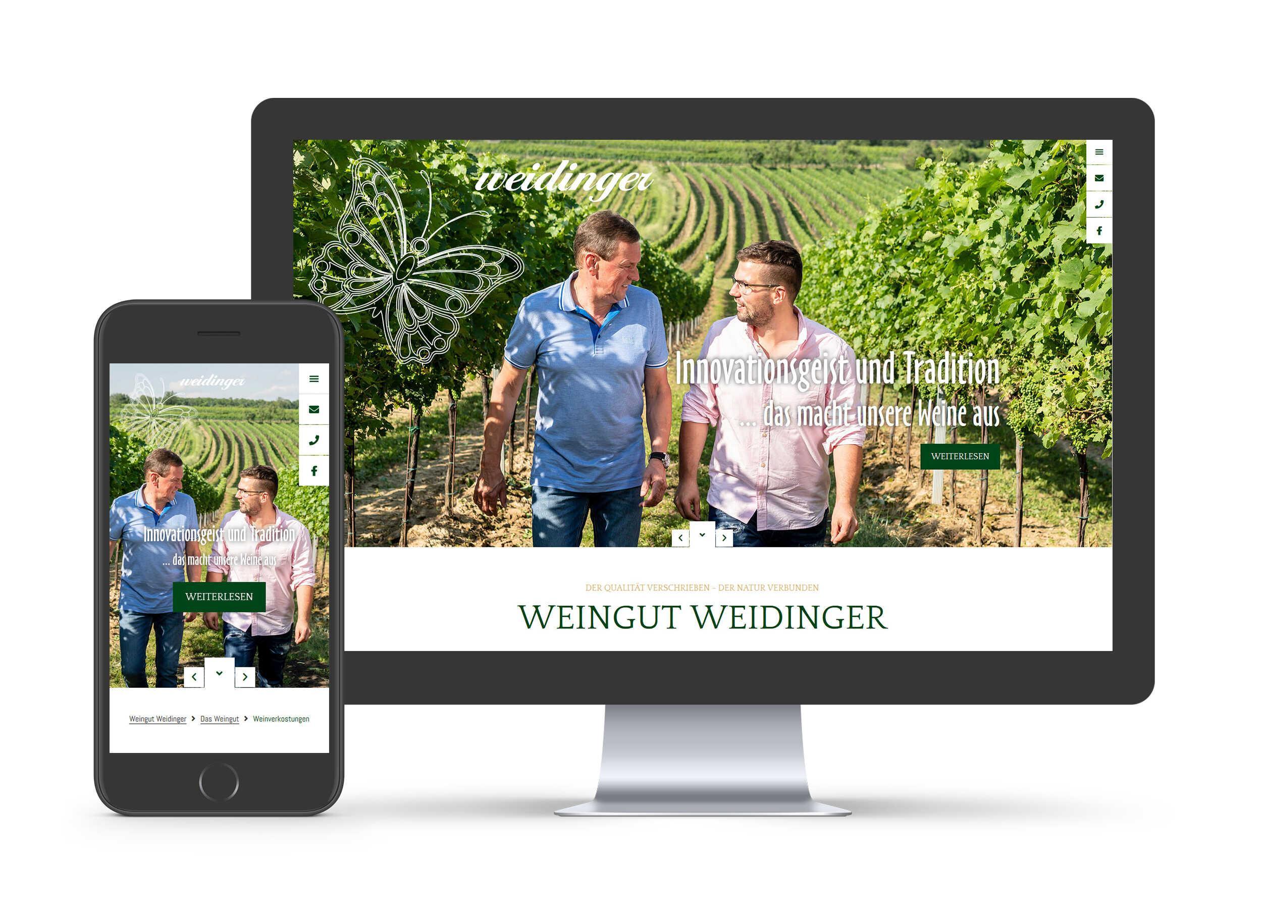 Weingut Weidinger - Website