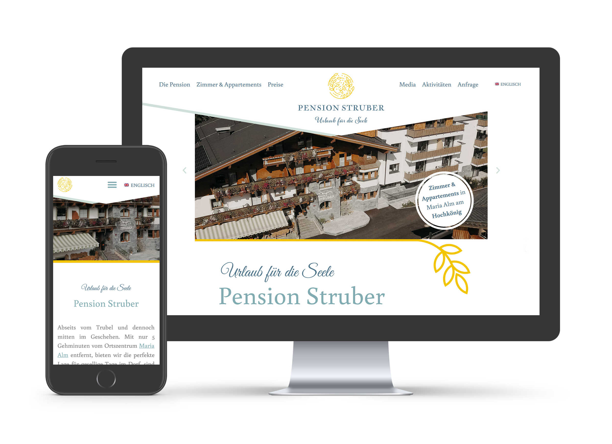 Pension Struber - Website
