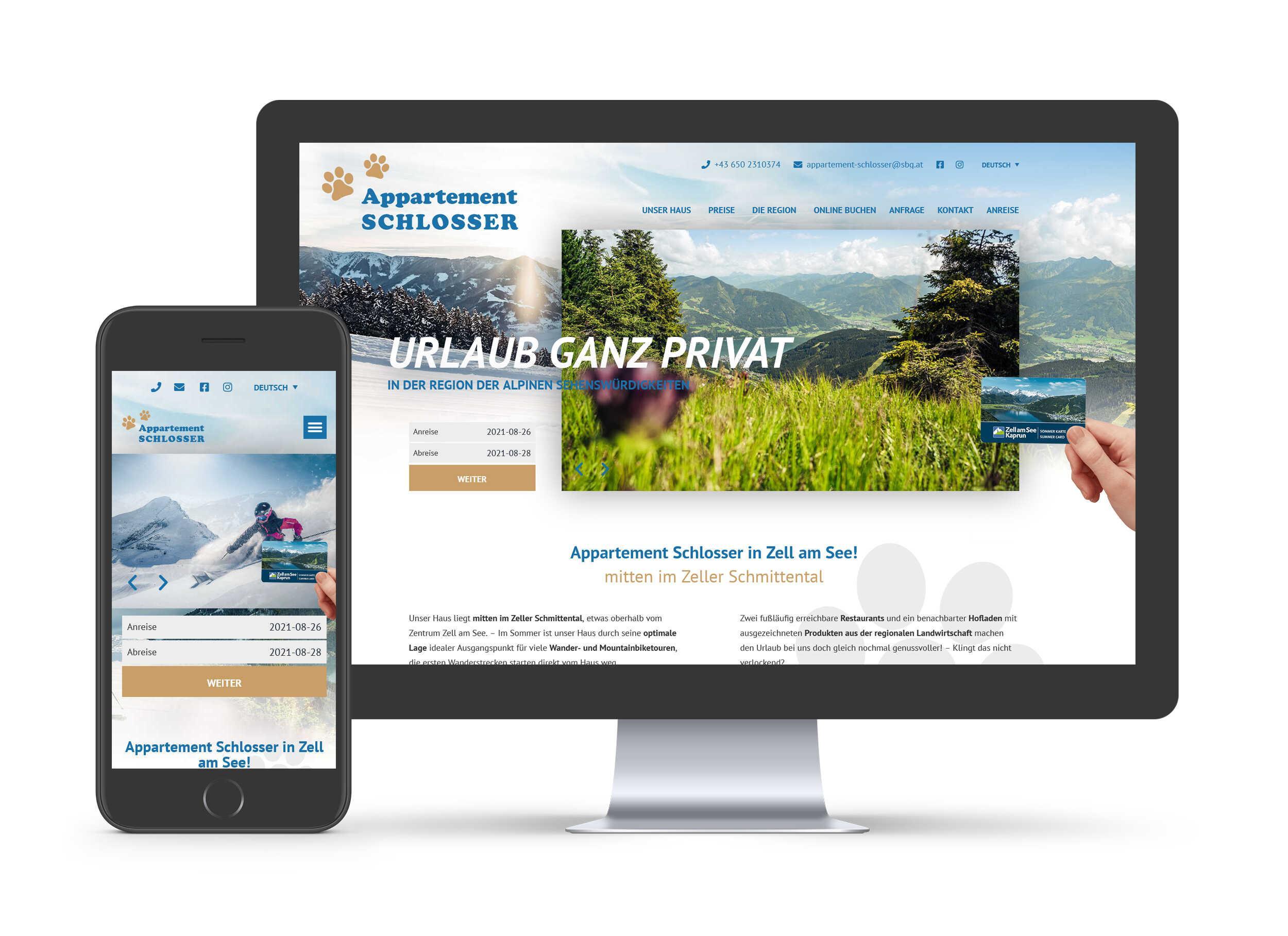 Appartement Schlosser - Website