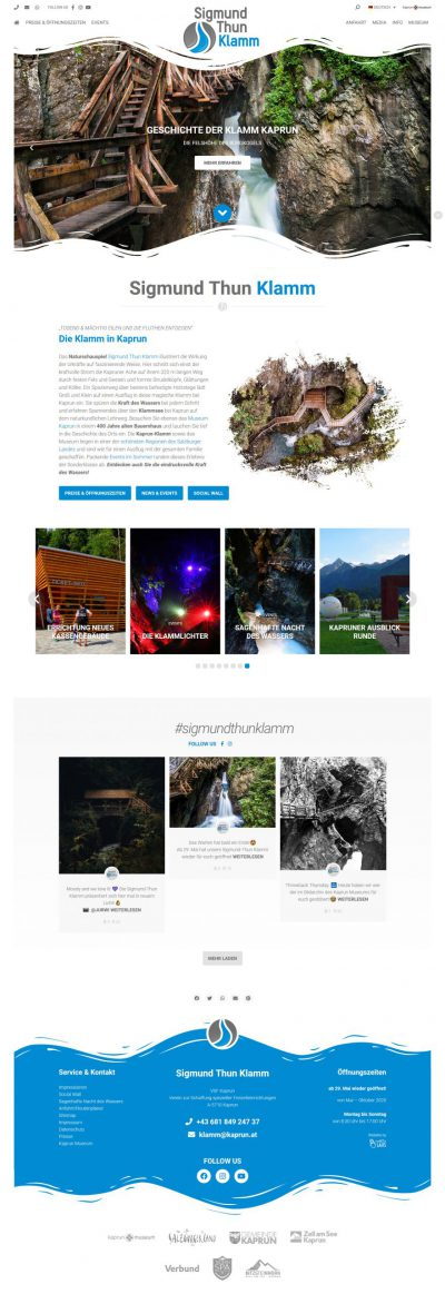 Sigmund Thun Klamm - Website